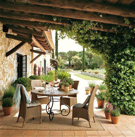 mesa de forja de jardin o interior