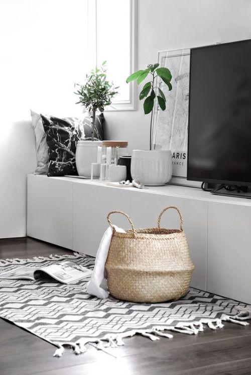 muebles con materiales naturales