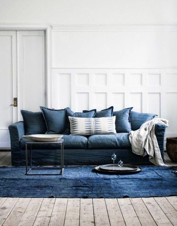 sofás en azul niágara